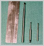 3 burs - from left HP, RA and FG